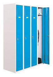 Öltözőszekrény, fém, 4 ajtós, (340)
