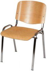 Iso wood crom váró szék, fa palásttal