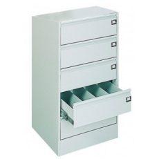 Kartotéktároló szekrény, fém (305)