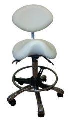 Fogorvosi laborszék, nyeregüléssel, háttámlával, lábtartóval (1025 L)