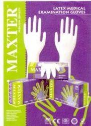 Maxter Latex kesztyű, enyhén púderezett, 100 db
