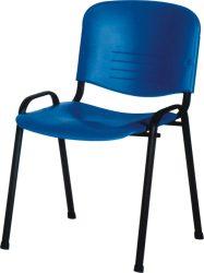 ISO Colorplast váró szék, fekete színterezett vázzal