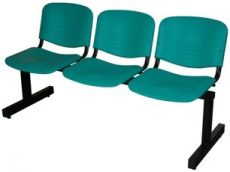 Várótermi pad 2-3-4 üléses ISO Color plast, fekete vázzal