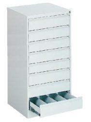 Kartotéktároló szekrény, fém (303)