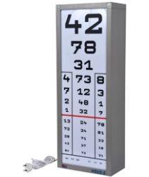 Látás vizsgáló tábla 1 oszlopos, ledes megvilágítással Visus-S