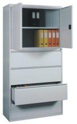 Kartotéktároló és dosszié tároló szekrény, fém,(1)