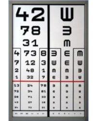 Visus-D Látásvizsgáló tábla, ledes megvilágítással, 2 oszlopos