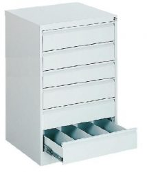 Kartotéktároló szekrény, fém (203)