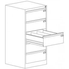 Kartotéktároló szekrény, fém (319)
