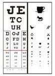 Előlap Visus D Látásvizsgáló táblához