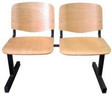 Várótermi pad, fa üléssel, 2-3 vagy 4 személyes változatban