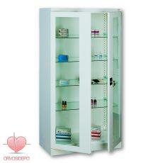 Gyógyszertároló szekrény, két ajtós (fém 103)