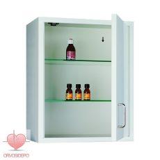 Gyógyszerszekrény, fali, egy ajtós (fém 101)