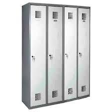 Öltözőszekrény, fém, dupla szellőzővel, 4 ajtós (340w)