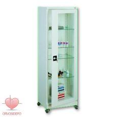 Gyógyszertároló szekrény, agy ajtós, görgős (fém 111)